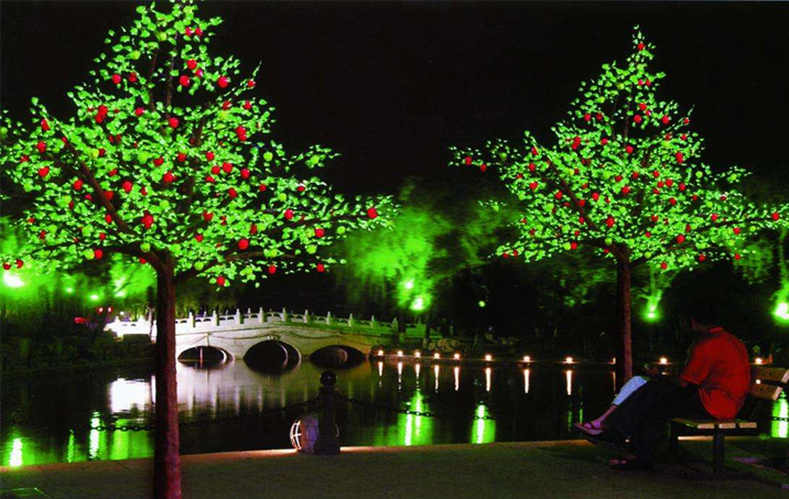 LED仿真树灯案例