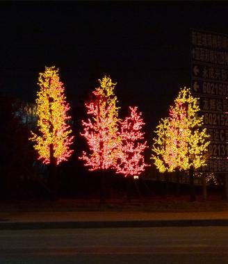 北京枫叶树灯工程图
