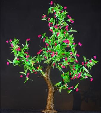 仿真树灯表面和明亮的颜色,直到令人满意