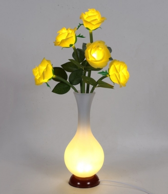 中山玫瑰花瓶